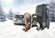 Fahrt in den Winterurlaub